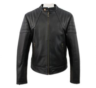 CAZADORA BRS1 BLACK LEATHER JACKET