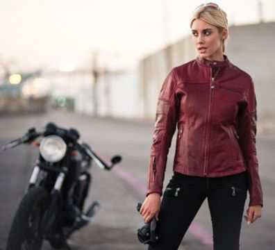 CAZADORA ROLAND SANDS MAVEN OXBLOOD RED