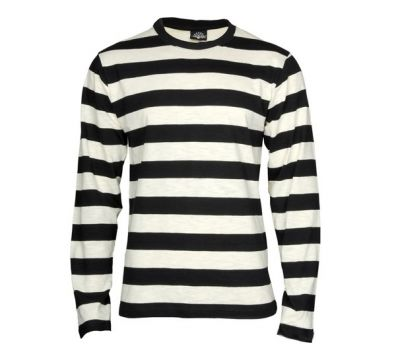 CAMISETA KING KEROSIN STRIPE BLACK WHITE