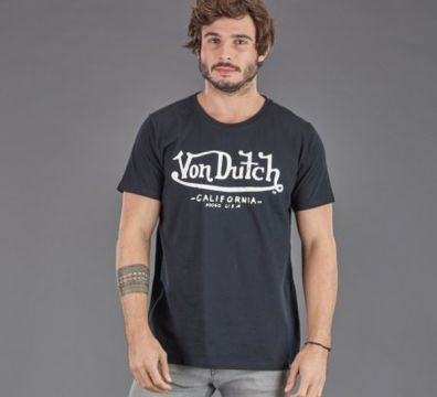CAMISETA VON DUTCH BRAND BLACK