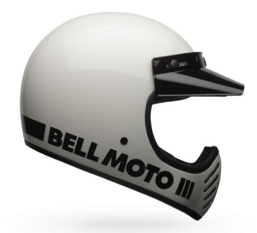 CASCO BELL MOTO 3 CLASSIC WHITE