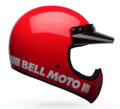 CASCO BELL MOTO 3 CLASSIC RED