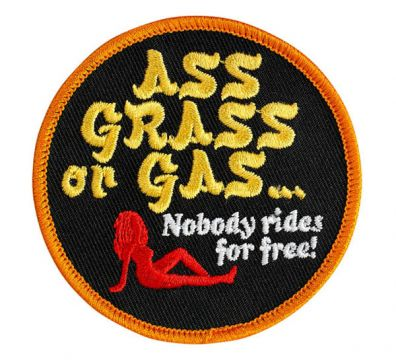 PARCHE ASS GRASS OR GAS