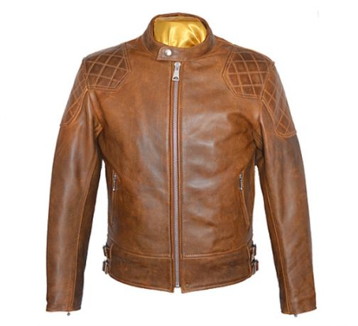 CAZADORA GOLDTOP 76 CAFE RACER BROWN FULL ARMOURED