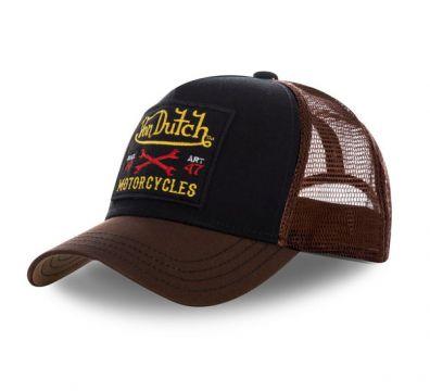 VON DUTCH SQUARE TRUCKER BROWN CAP