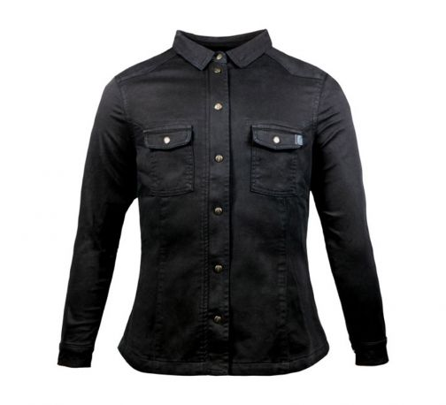 JOHN DOE MOTOSHIRT WOMAN BLACK