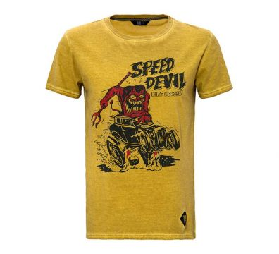 CAMISETA KING KEROSIN SPEED DEVIL MUSTARD
