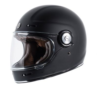 CASCO TORC T1 RETRO FULL FACE FLAT BLACK
