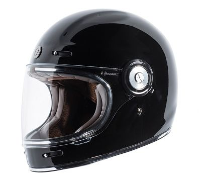 CASCO TORC T1 RETRO FULL FACE GLOSS BLACK
