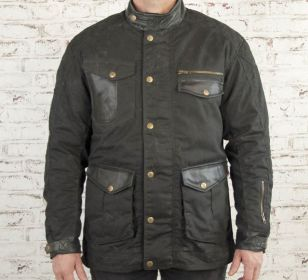 CHAQUETA AGE OF GLORY MISSION WAXED COTTON BLACK