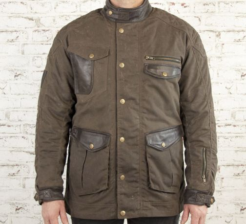 CHAQUETA AGE OF GLORY MISSION WAXED COTTON BROWN