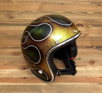 CASCO SEVENTIES FLAMES 14 GOLD & GREEN