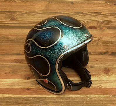 CASCO SEVENTIES FLAMES 14 BLUE TONES
