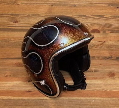 CASCO SEVENTIES FLAMES 14 BROWN & DARK BLUE