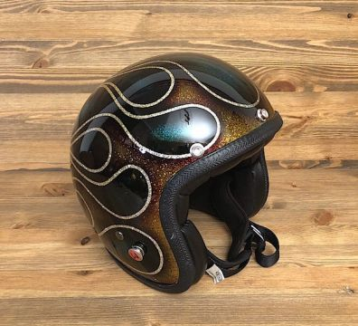 CASCO SEVENTIES FLAMES 14 CUSTOM BROWN & TURQUOISE