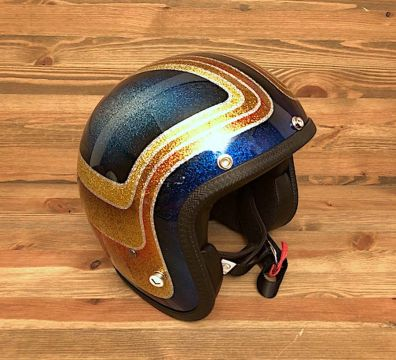 CASCO SEVENTIES VINTAGE CUSTOM ORANGE & BLUE TONES