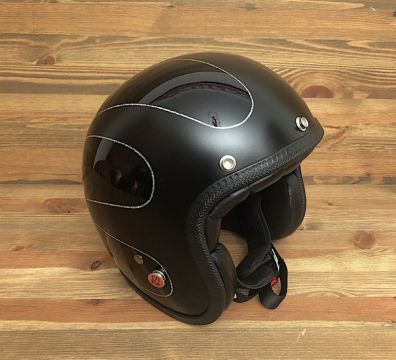 CASCO SEVENTIES SCALLOPS 16 MATT & GLOSSY BLACK