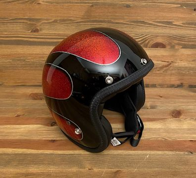 CASCO SEVENTIES SCALLOPS 16 SOLID BLACK & ORANGE