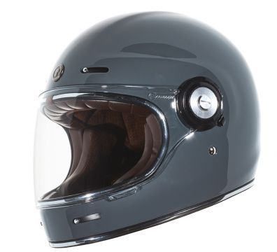 CASCO TORC T1 RETRO FULL FACE GLOSS GREY