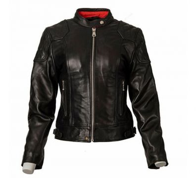 CAZADORA GOLDTOP LADIES 76 CAFE RACER BLACK CE ARMOURED