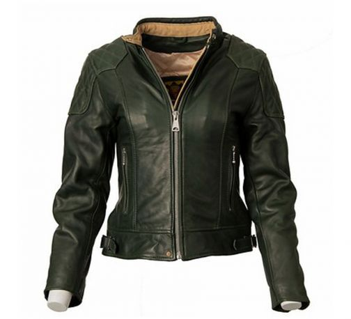CAZADORA GOLDTOP LADIES 76 CAFE RACER GREEN CE ARMOURED