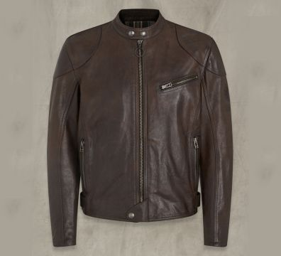 CHAQUETA BELSTAFF SUPREME LEATHER BLACK BROWN