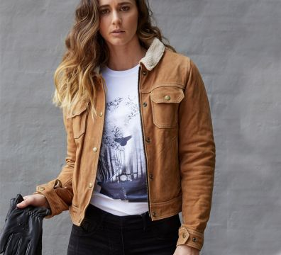 BLACKBIRD LADIES DAKOTA NUBUCK LEATHER JACKET 1