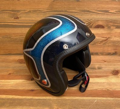 CASCO SEVENTIES KUSTOM SCALLOPS BRONZE AND LIGHT BLUE