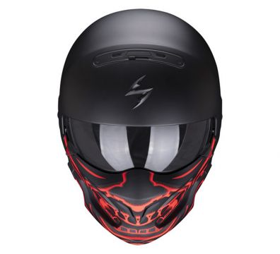 CASCO SCORPION EXO COMBAT EVO SAMURAI MATT BLACK RED