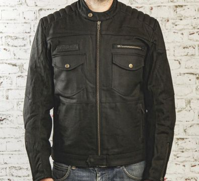 CHAQUETA AGE OF GLORY Worker Coated Denim Black