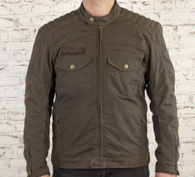 CHAQUETA AGE OF GLORY Worker Coated Denim Brown