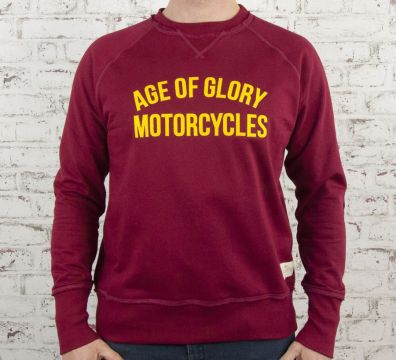 AGE OF GLORY Vintage Raglan Sweat Burgundy