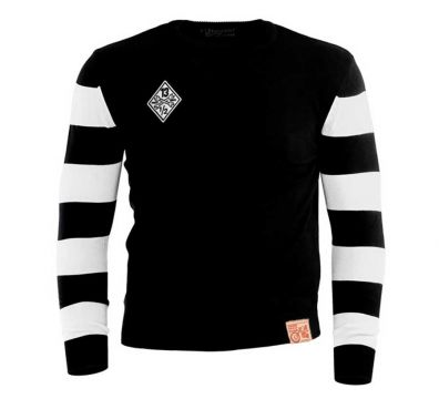 OUTLAW SWEATER FREE BIRD BLACK WHITE