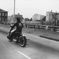 Danny Lyon (B. 1942) Crossing the Ohio River, Louisville, Kentucky, 1966 #outlaws #bobber #harleydavidson