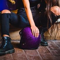 Seventies Metalflakes #vintagehelmet #metalflakes #purple #cascosmoto